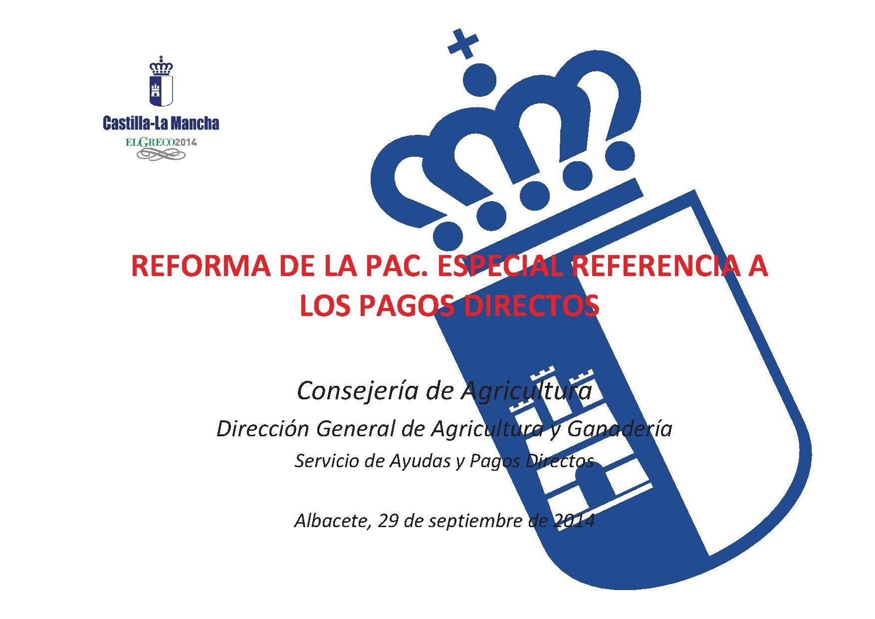 Presentación de la Jornada 29-09-14: Reforma de la PAC 2015-2020