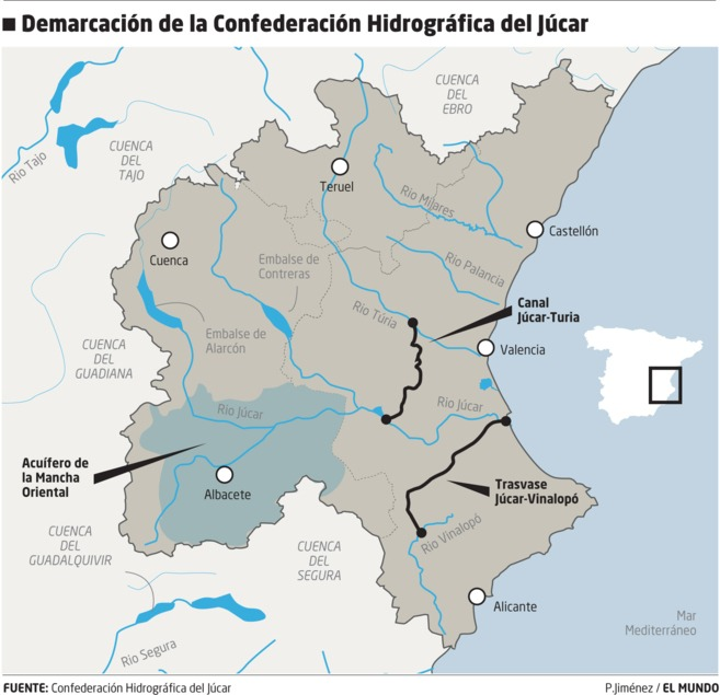 En busca del pacto del Júcar El Plan Hidrológico se votará el miércoles en Madrid con cinco años de retraso